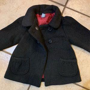 BabyGap gray wool pea coat